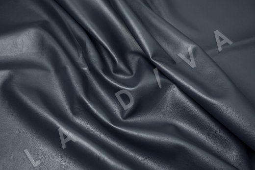 экокожа на костюмной основе темно-синего цвета  рис-3