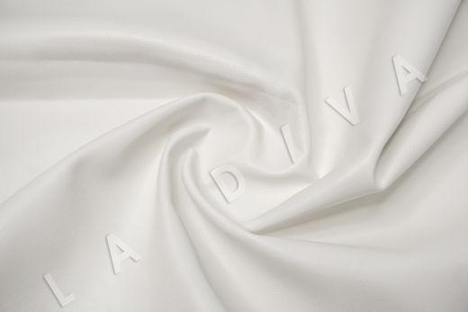 экокожа на костюмной основе белого цвета