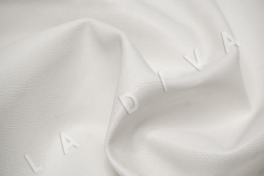 экокожа на костюмной основе белого цвета рис-2