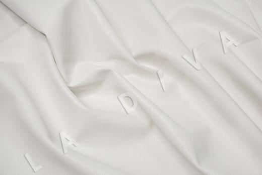 экокожа на костюмной основе белого цвета рис-3