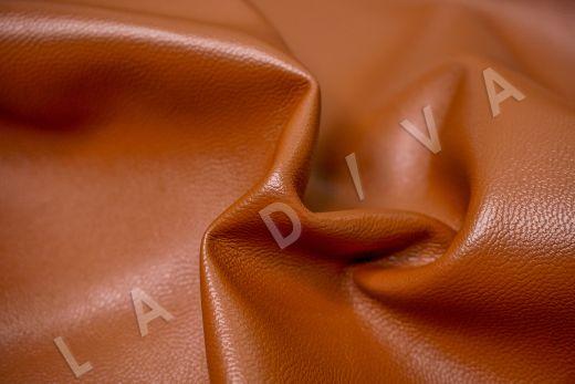 экокожа на костюмной основе кирпичного цвета  рис-2