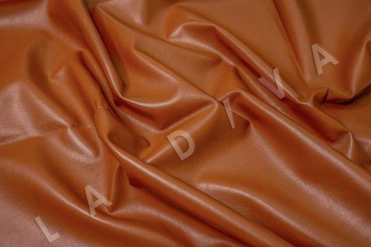 экокожа на костюмной основе кирпичного цвета  рис-3