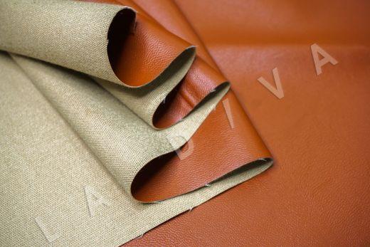 экокожа на костюмной основе кирпичного цвета  рис-4