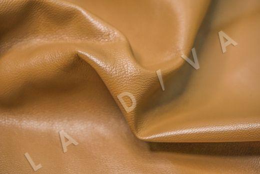 экокожа на костюмной основе бежевого цвета  рис-2