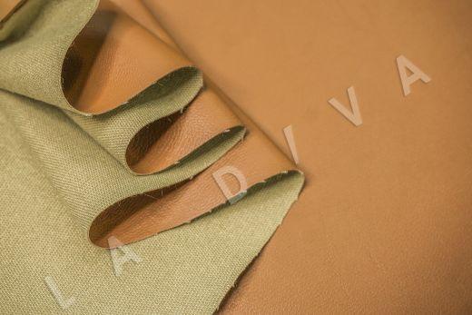 экокожа на костюмной основе бежевого цвета  рис-4