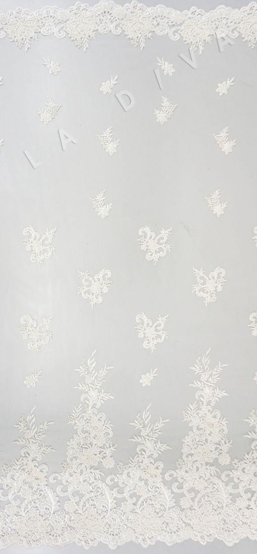 вышивка на сетке с с бисером белого цвета рис-2