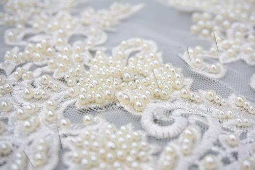 вышивка на сетке с с бисером белого цвета рис-5