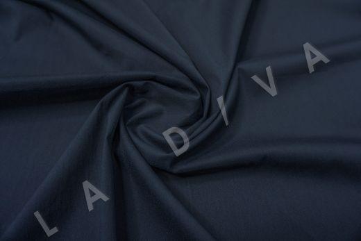 Хлопок сорочечный темно-синего цвета