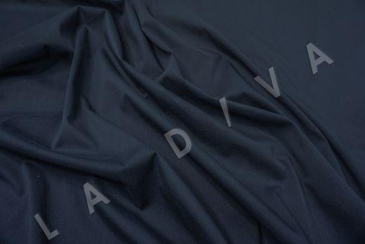 Хлопок сорочечный темно-синего цвета рис-2