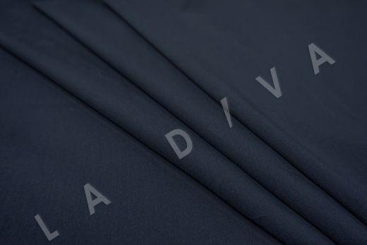 Хлопок сорочечный темно-синего цвета рис-3