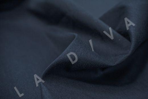Хлопок сорочечный темно-синего цвета рис-4