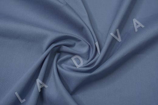 Хлопок сорочечный серо-синего цвета