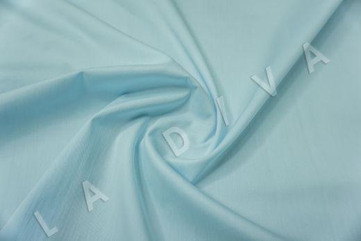 Хлопок сорочечный голубого цвета