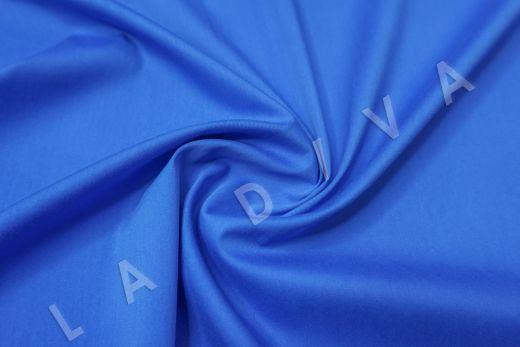 Хлопок сорочечный синего цвета
