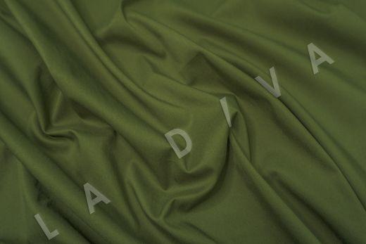 Хлопок сорочечный цвет хаки рис-2