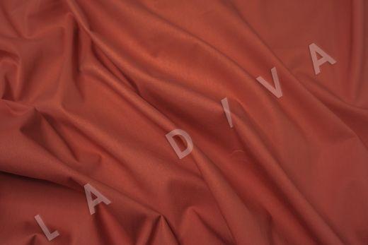 Хлопок сорочечный терракотового цвета рис-2