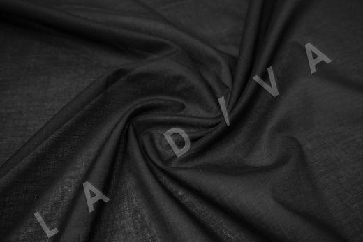 Батист однотонный черного цвета