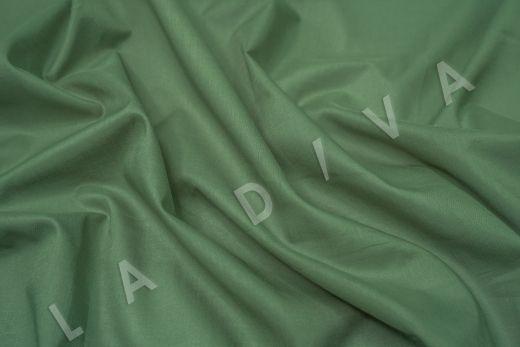Батист однотонный зеленого цвета  рис-2