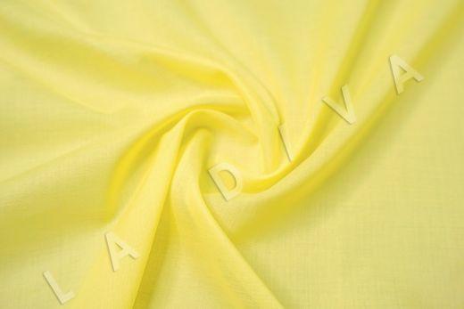 Батист однотонный лимонного цвета
