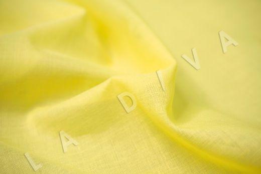 Батист однотонный лимонного цвета  рис-3