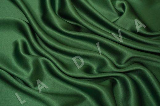 Шелк атласный однотонный зеленого цвета