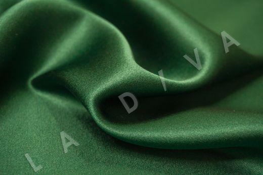 Шелк атласный однотонный зеленого цвета рис-2