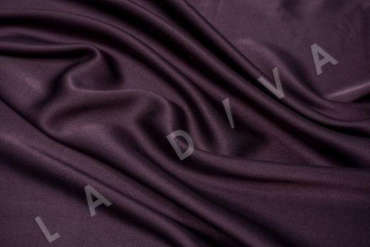 Шелк атласный однотонный фиолетового цвета
