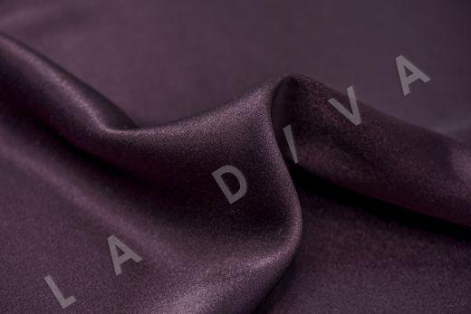 Шелк атласный однотонный фиолетового цвета рис-2