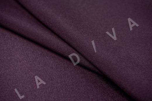 Шелк атласный однотонный фиолетового цвета рис-3