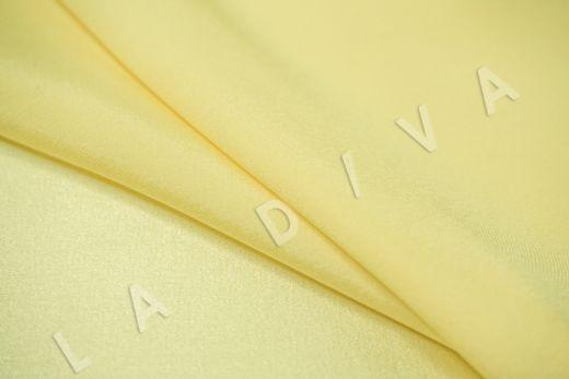 Шелк атласный однотонный светло-желтого цвета рис-3