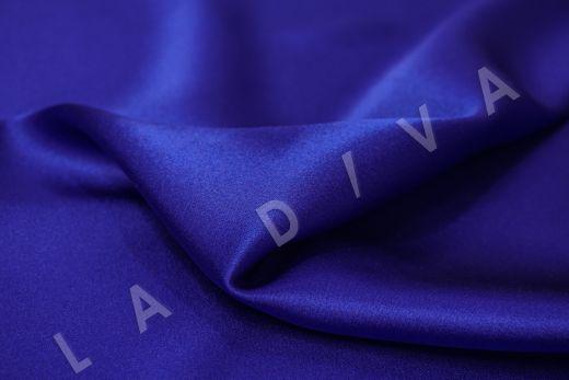 Шелк атласный однотонный синего цвета рис-2