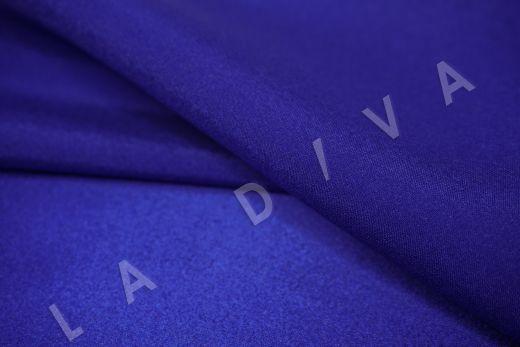 Шелк атласный однотонный синего цвета рис-3