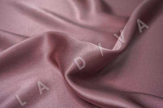 Шелк атласный однотонный цвета пыльной розы рис-2