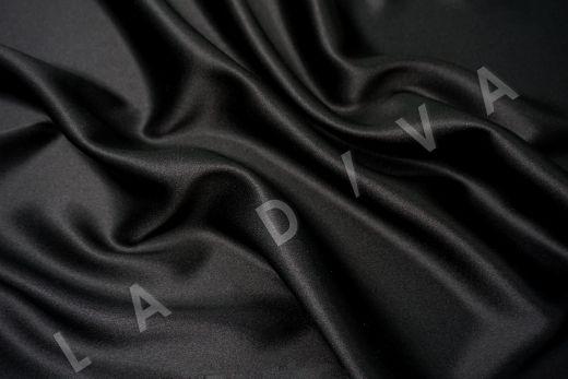 шелк атласный однотонный черного цвета