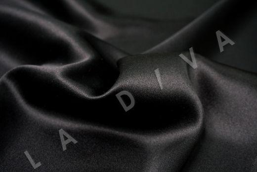 шелк атласный однотонный черного цвета рис-2