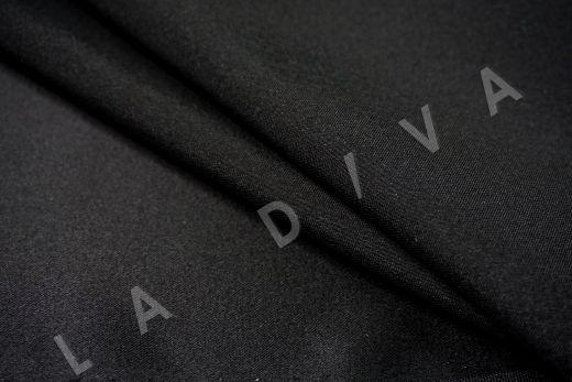 шелк атласный однотонный черного цвета рис-3