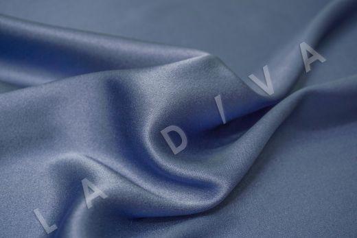 Шелк атласный однотонный серо-голубого цвета рис-2