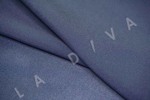 Шелк атласный однотонный серо-голубого цвета рис-3