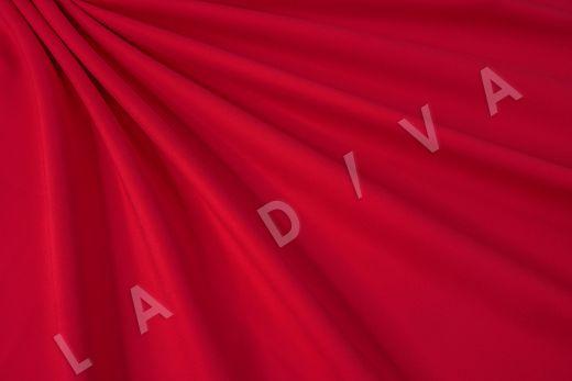 Костюмный стрейч хлопок ярко-красного цвета