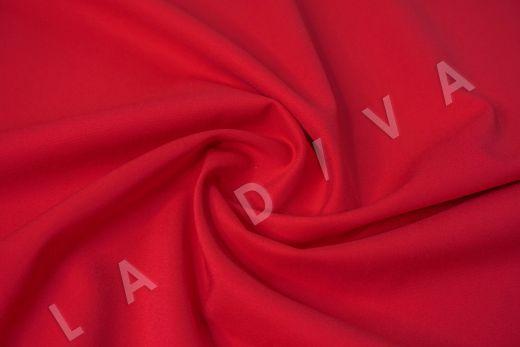 Костюмный стрейч хлопок ярко-красного цвета рис-2