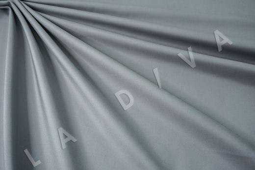 Костюмный стрейч хлопок серо-голубого цвета
