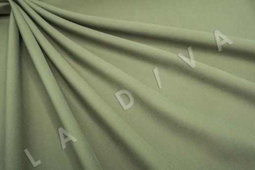 Костюмный стрейч хлопок зеленого цвета