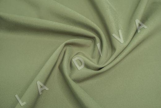 Костюмный стрейч хлопок зеленого цвета рис-2