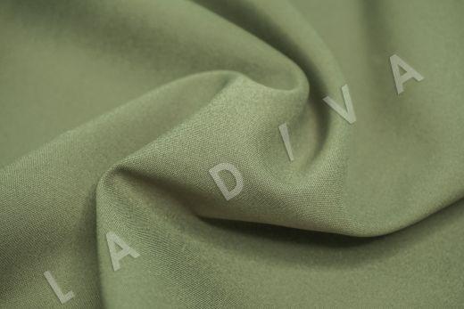 Костюмный стрейч хлопок зеленого цвета рис-4