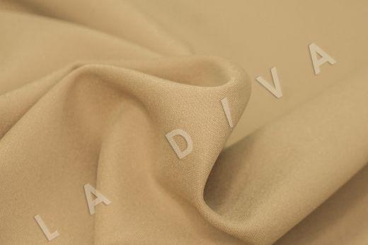 Костюмный стрейч хлопок бежевого цвета рис-4