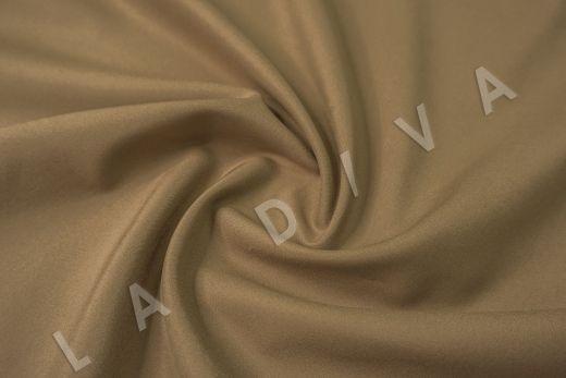Костюмный стрейч хлопок коричневого цвета рис-2