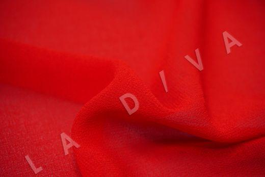 Креповый шифон красного цвета рис-2