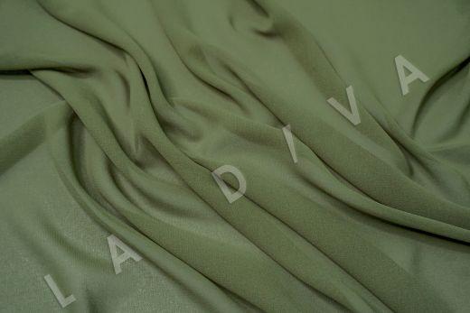 Креповый шифон зеленого цвета