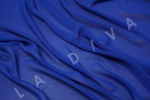 Креповый шифон синего цвета