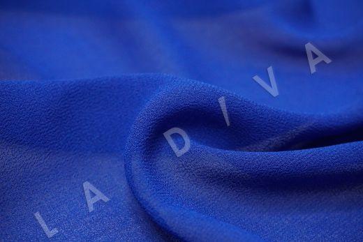 Креповый шифон синего цвета рис-2